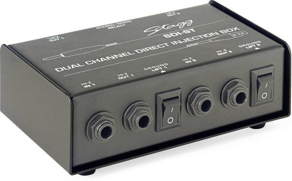 Stagg SDI-ST 2-Channel, passive DI box with Mono/Stereo switch