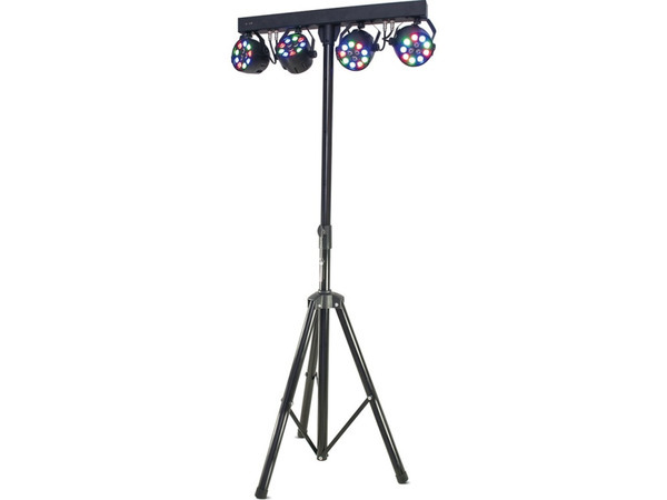 Ibiza DJLIGHT80LED Light Stand Fitted with 4x 1W RGBW Par Cans