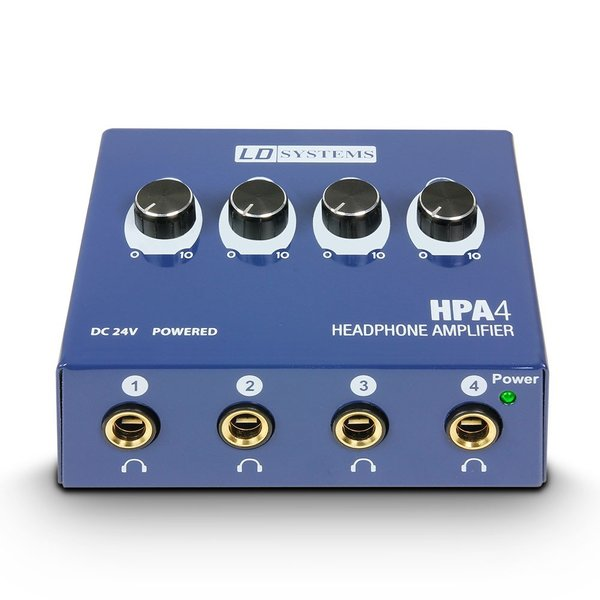 LD Systems HPA4 Amplificatore per Cuffie a 4 Canali