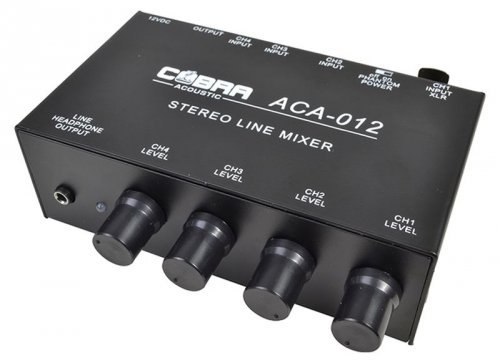 Cobra Acoustic - ACA012 - Mixer 5 Canali 1 canale Mic + line